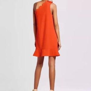 Victoria Beckham Dresses - Victoria Beckham Orange One-shoulder Dress NEW